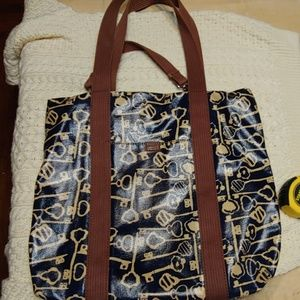 Fossil coated canvas bag
